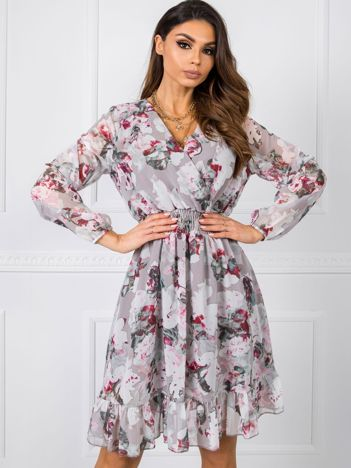 Beżowo-różowa sukienka Millow RUE PARIS