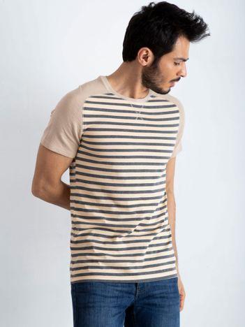 Beżowo-szary t-shirt męski Future