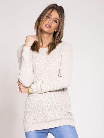 Beżowy damski sweter