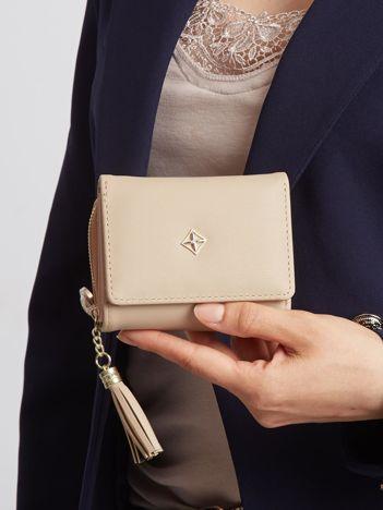 Beżowy portfel