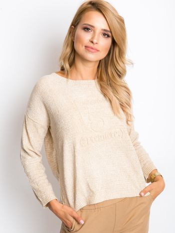 Beżowy sweter Dolce