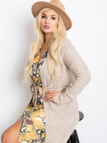 Beżowy sweter plus size Favorite