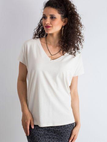Beżowy t-shirt Emory