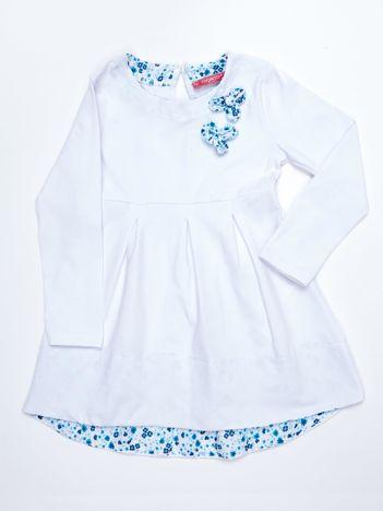 Biała bawełniana sukienka dziecięca