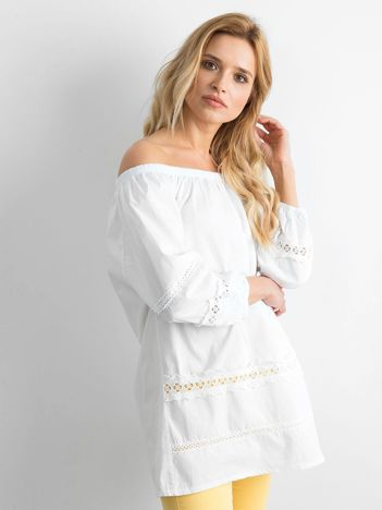 Biała bawełniana tunika hiszpanka