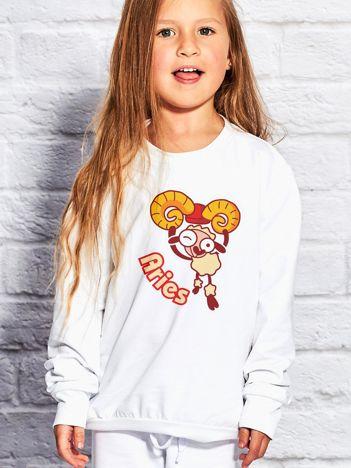 Biała bluza dziecięca znak zodiaku BARAN