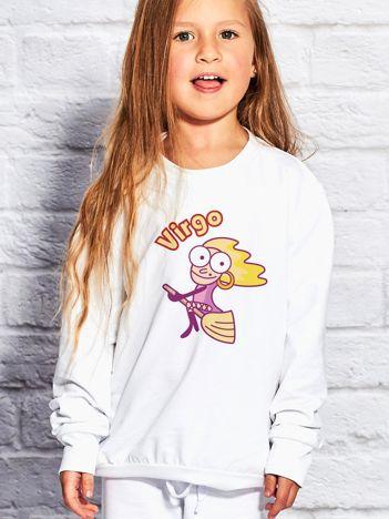 Biała bluza dziecięca znak zodiaku PANNA