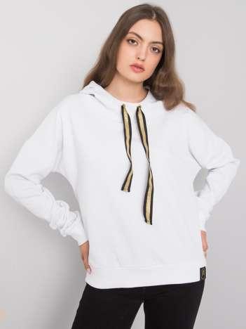 Biała bluza z kapturem Wisby