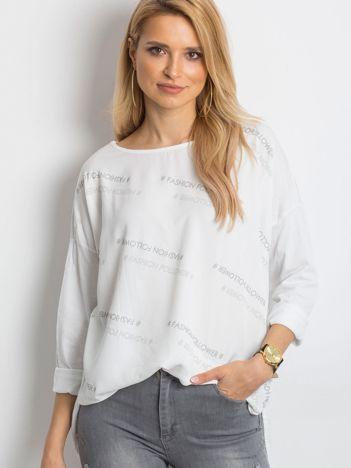 Biała bluzka Conversation
