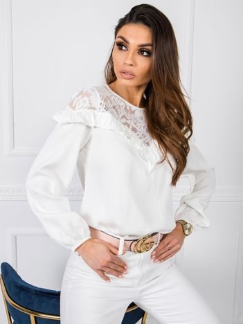 Biała bluzka Light RUE PARIS