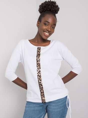 Biała bluzka damska z bawełny Sample