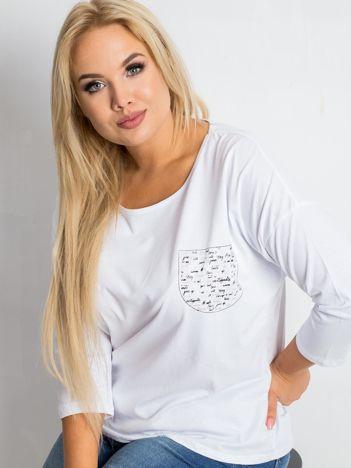 Biała bluzka plus size Touchy