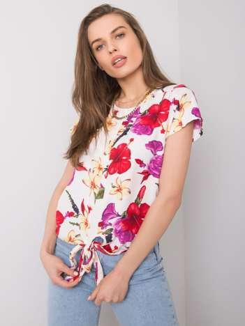 Biała bluzka w kwiaty Tiffany FRESH MADE