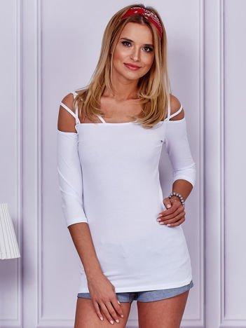 Biała bluzka z cienkimi paseczkami