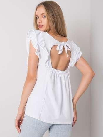 Biała bluzka z falbankami Claude OCH BELLA