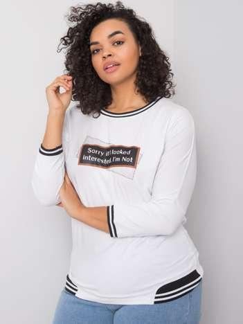 Biała bluzka z nadrukiem Luana