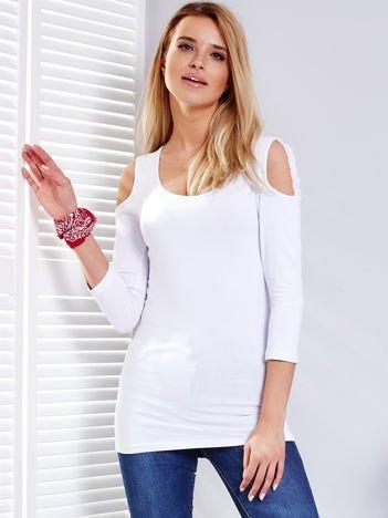 Biała bluzka z paskami na ramionach