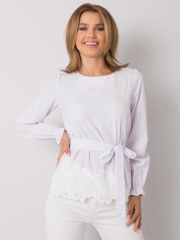 Biała bluzka z paskiem Dorotthea