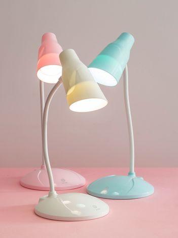 Biała dotykowa lampka biurkowa LED USB