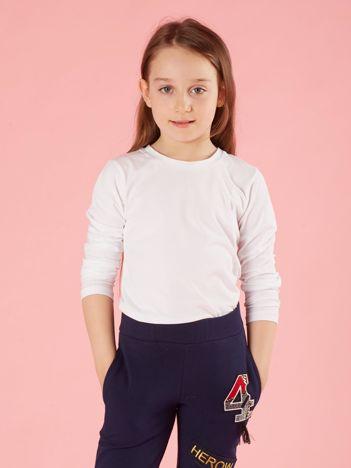 Biała dziewczęca bluzka basic