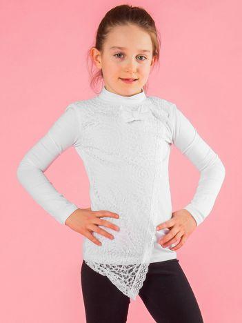 Biała elegancka bluzka dziewczęca