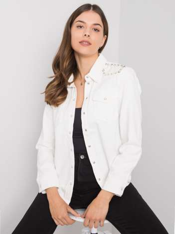 Biała koszula jeansowa Anneka