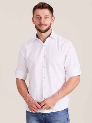 Biała koszula męska o regularnym kroju