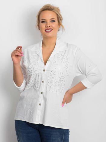 Biała koszula plus size Oddity
