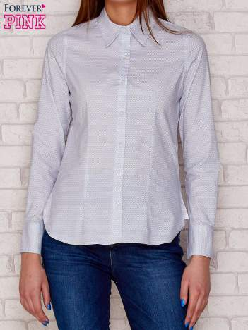 Biała koszula w drobny wzór