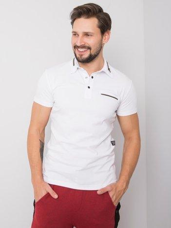 Biała koszulka polo męska Jett