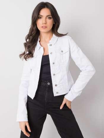 Biała kurtka jeansowa Ferrara