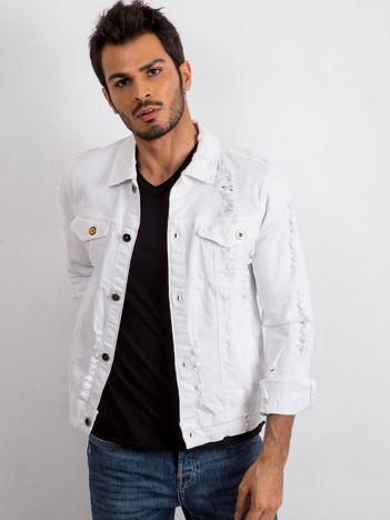 Biała kurtka męska Pioneer