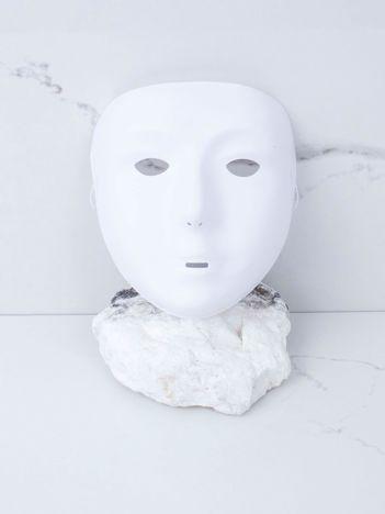 Biała maska karnawałowa