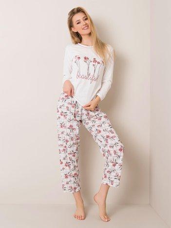 Biała piżama dwuczęściowa