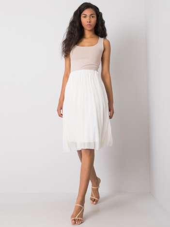 Biała spódnica plisowana Angie SUBLEVEL