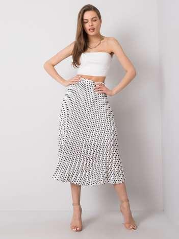 Biała spódnica w groszki Adrielle SUBLEVEL