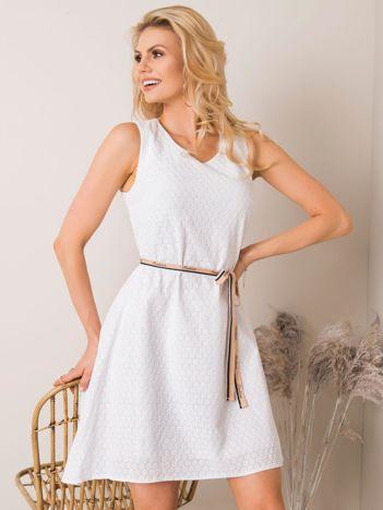 Sukienka biała rozkloszowana BELLA XS S M L Katowice