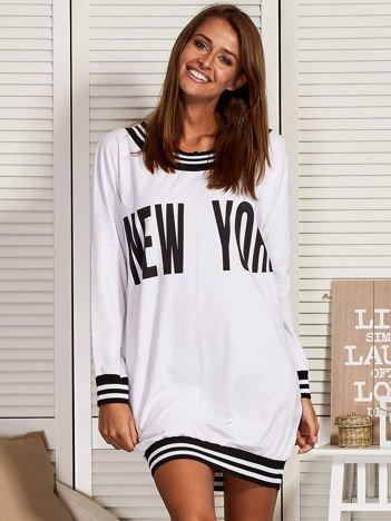 Biała sukienka NEW YORK