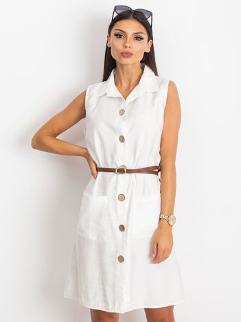Biała sukienka Safari