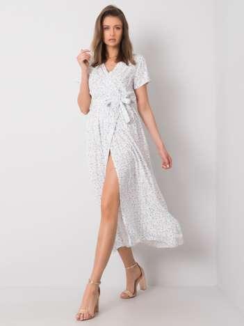 Biała sukienka we wzory Aislinn