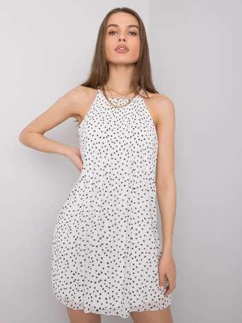 Biała sukienka we wzory Sage SUBLEVEL