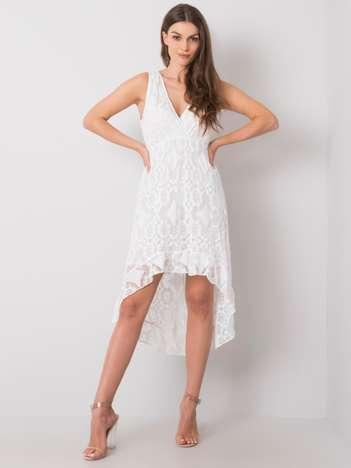 Biała sukienka z koronką Faustina