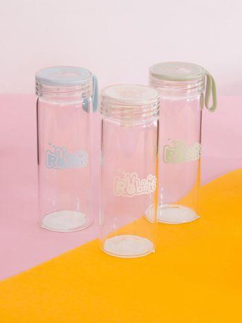Biała szklana butelka na wodę