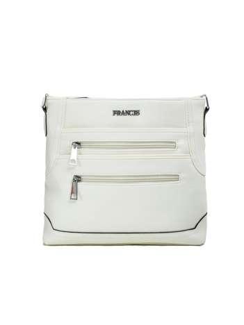 Biała torebka damska z kieszeniami