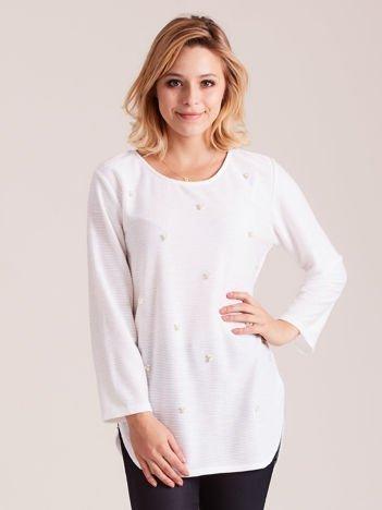 Biała tunika z perełkami