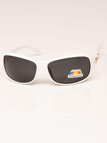 Białe Damskie Okulary Przeciwsłoneczne POLARYZACYJNE
