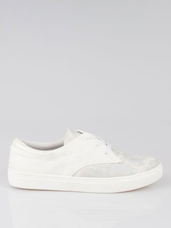 Białe buty sportowe z szarym wykończeniem Millie