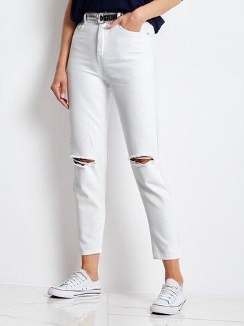 Białe jeansy Ithaca