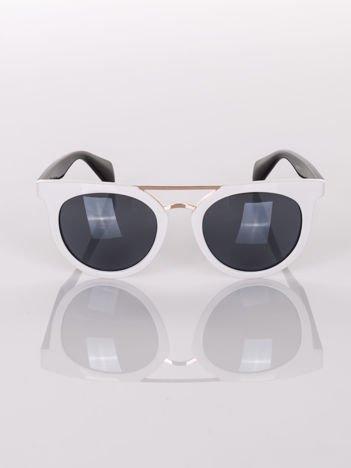 Białe okulary przeciwsłoneczne VINTAGE RETRO