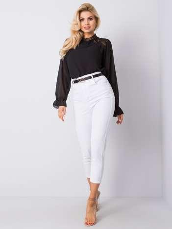 Białe spodnie high waist Dianne